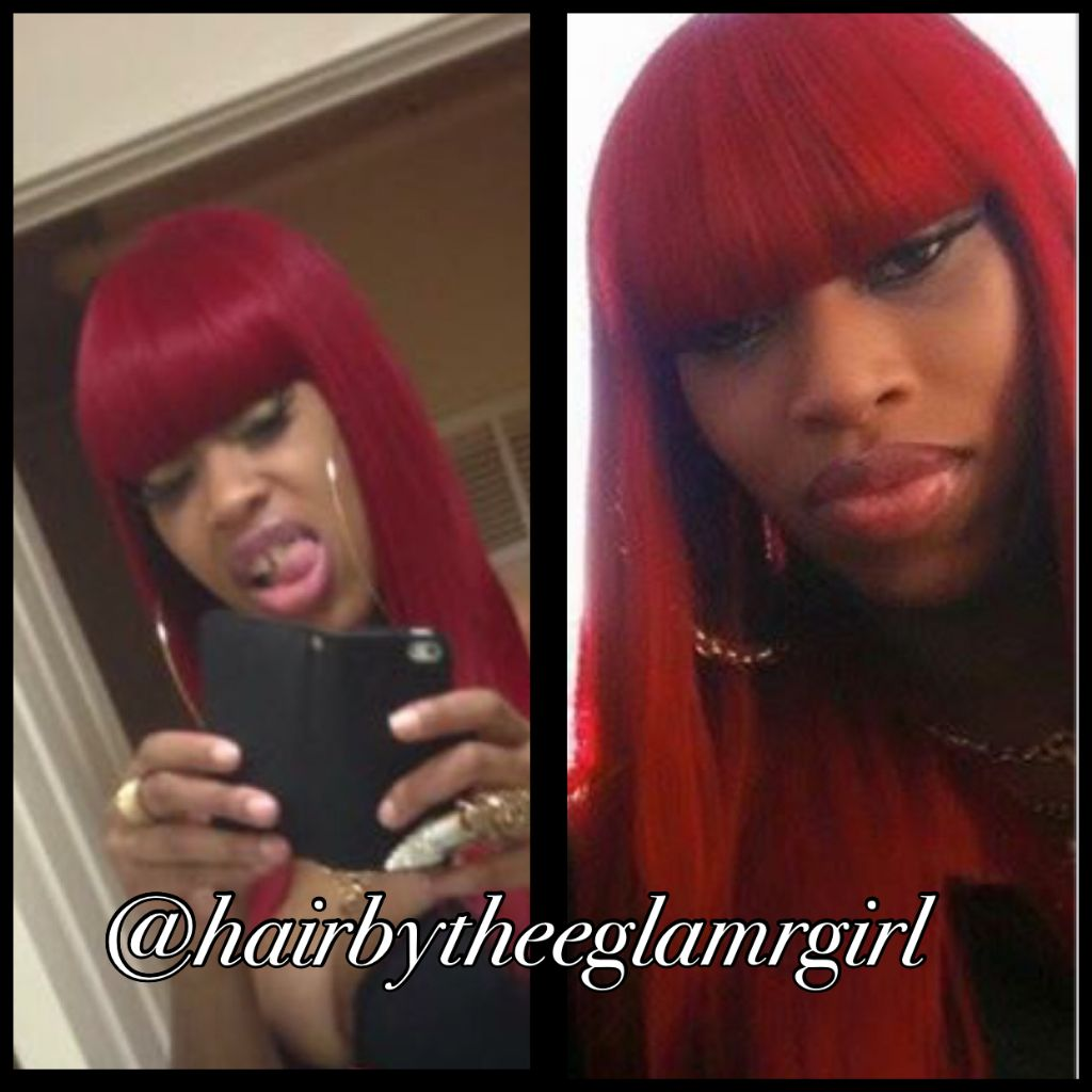 long red closed in sew in