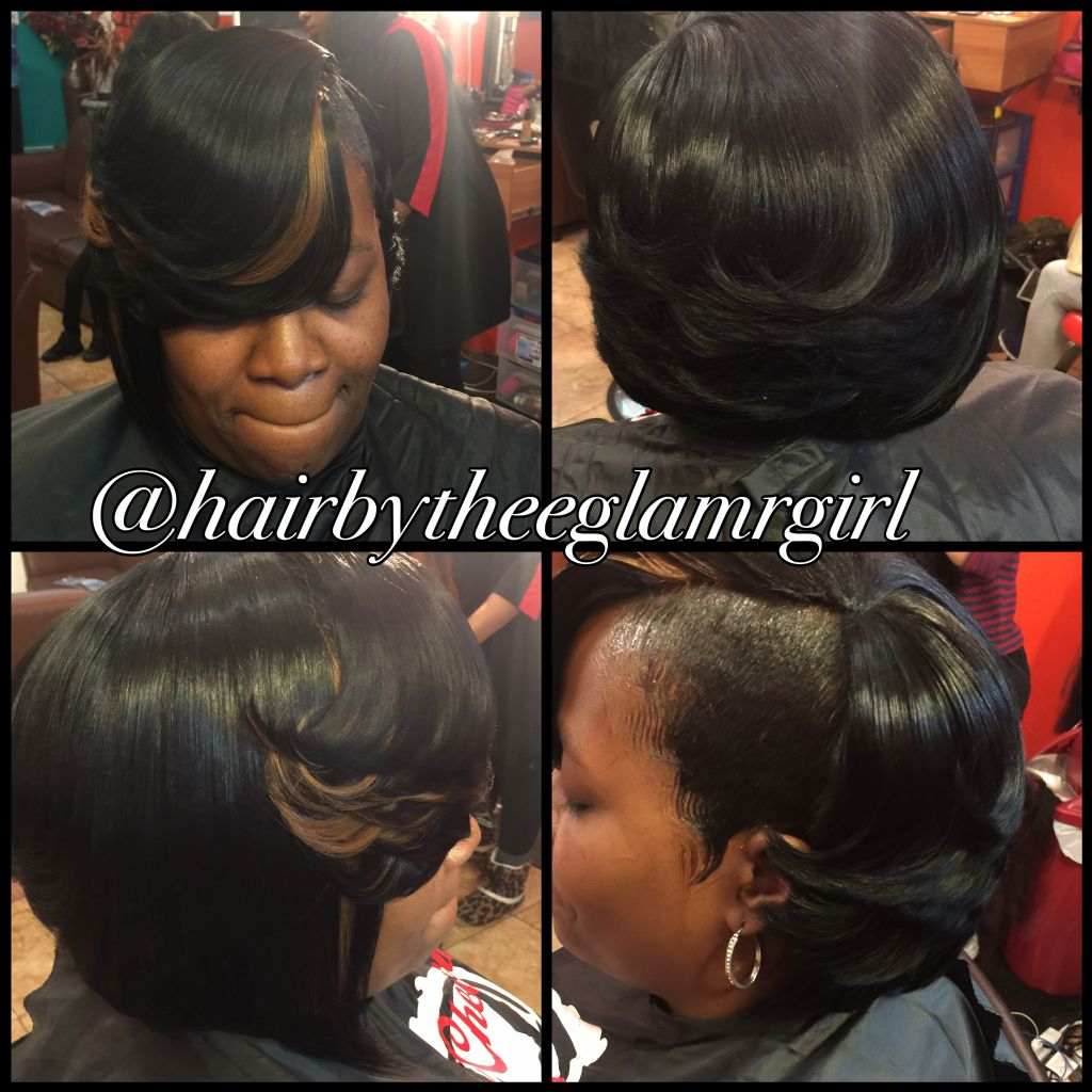 push back closed in layered bob