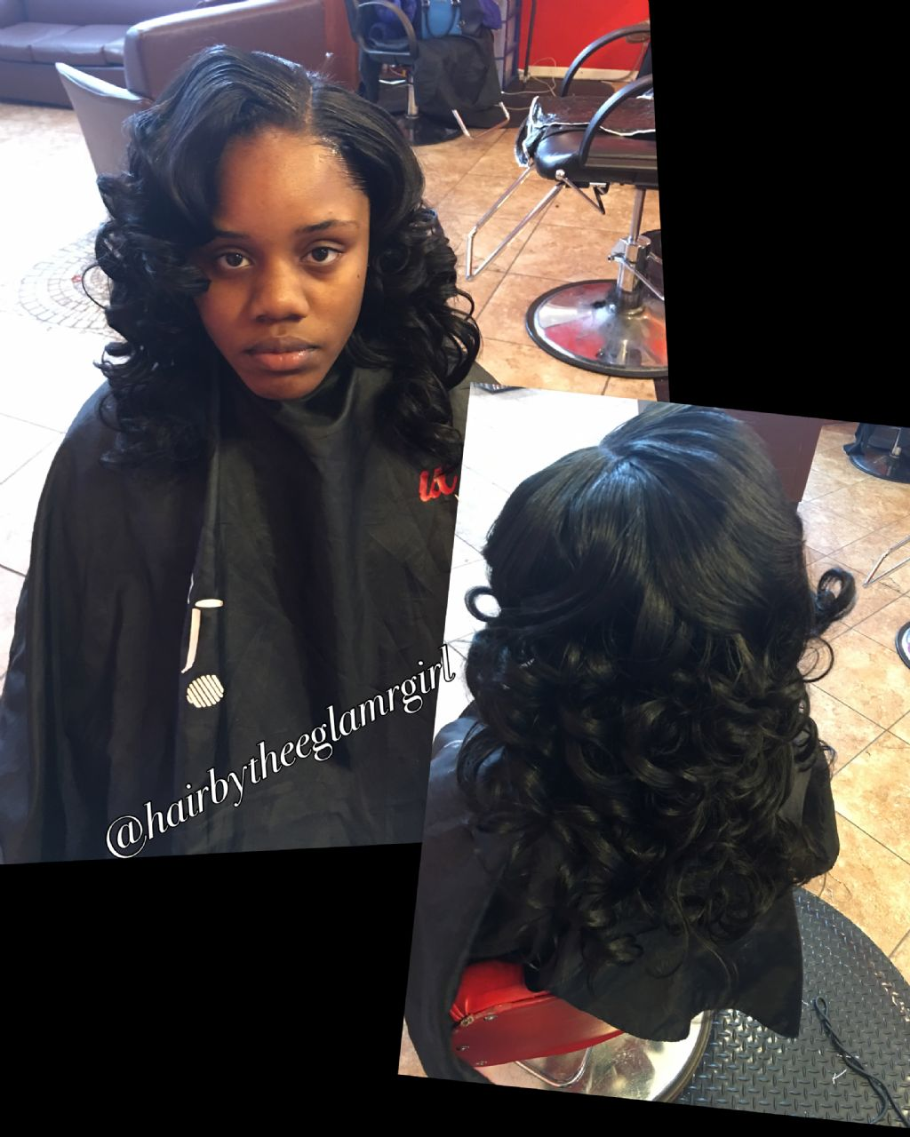 sew in   with minor leave out